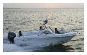 Cruising along in a speed boat