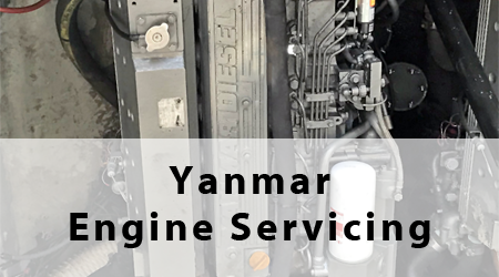 Yanmar Engine Servicing Button